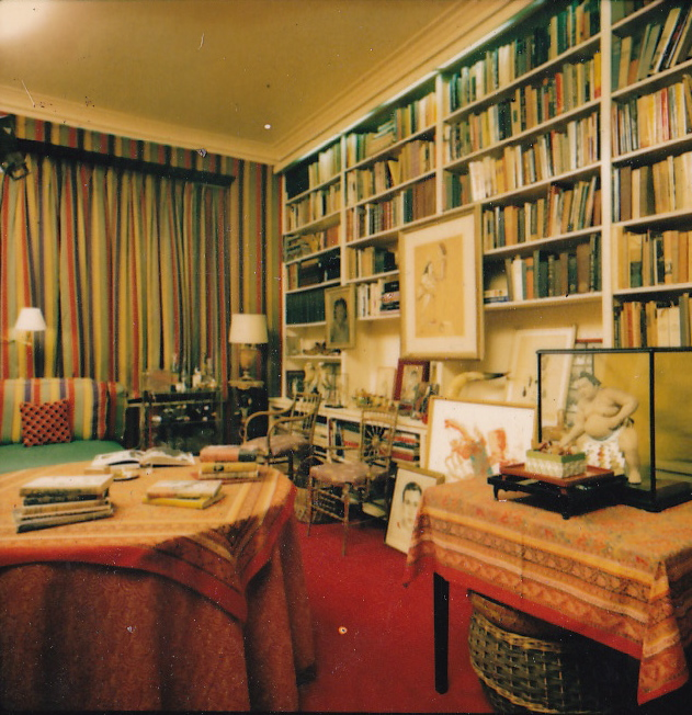 Wide shot of Diana Vreeland's Library